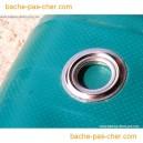 Bâches à oeillets en PVC - 680 gr - 5 x 6 m - bleue