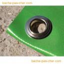 Bâches à oeillets en PVC - 680 gr - 10 x 15 m - verte