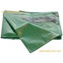 Bâches à oeillets en HDPE (polyéthylène renforcé haute densité)  - 250 gr - 2 x 3 m - verte
