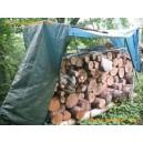 Bâches à bois en polyéthylène tressé - 80 gr/m² - 1.5 x 6 m - verte